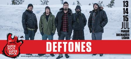 DEFTONES No 23º SUPER BOCK SUPER ROCK
