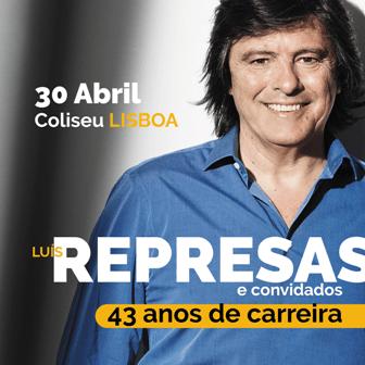 Luís Represas 43 anos carreira
