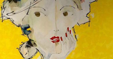 A artista plástica brasileira Lu Mourelle